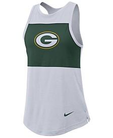 Nike Women's Green Bay Packers Racerback Colorblock Tank