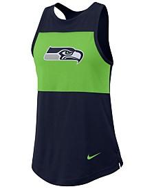 Nike Women's Seattle Seahawks Racerback Colorblock Tank