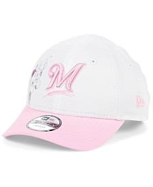 New Era Toddlers & Little Girls Milwaukee Brewers Minnie Heart 9FORTY Adjustable Cap