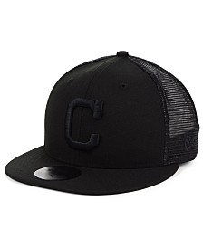 New Era Cleveland Indians Blackout Meshback 59FIFTY-FITTED Cap