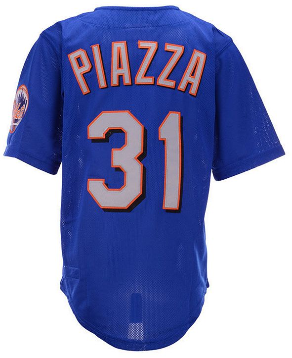 Mitchell & Ness Big Boys Mike Piazza New York Mets Mesh V-Neck Player Jersey