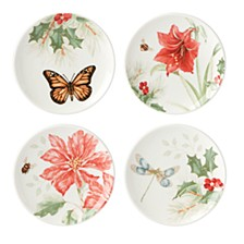Butterfly Meadow Holiday Set of 4 Coasters, Created for Macy's
