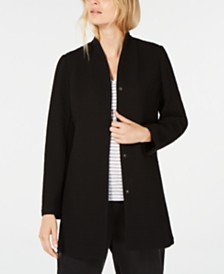 Eileen Fisher Textured Longline Jacket