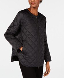 Eileen Fisher Quilted Zip-Front Jacket