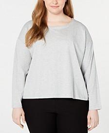 Plus Size Scoop-Neck Organic Cotton Top