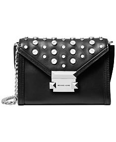 04a78c9bee45b MICHAEL Michael Kors Leather Studded Convertible Small Crossbody Belt Bag