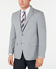 Men's Modern-Fit THFlex Stretch Gray Textured Sport Coat