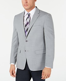Tommy Hilfiger Men's Modern-Fit THFlex Stretch Gray Textured Sport Coat