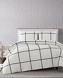 Kurt Windowpane 3-Pc. Full/Queen Comforter Set