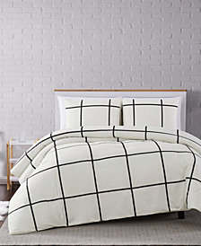Truly Soft Kurt Windowpane 3-Pc. Full/Queen Comforter Set