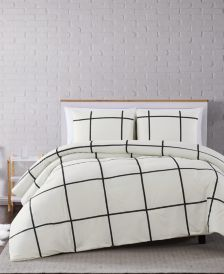 Kurt Windowpane 3-Pc. Full/Queen Comforter Set