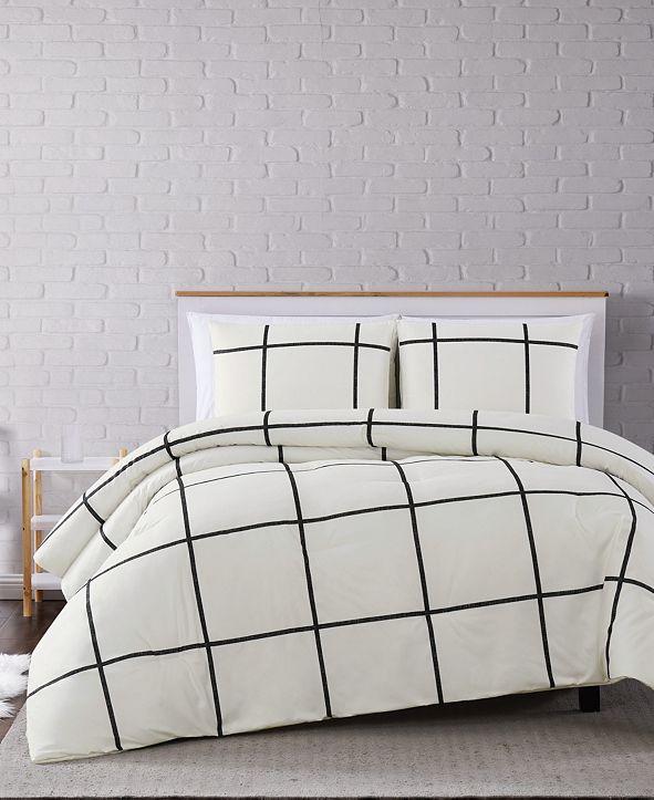 Truly Soft Kurt Windowpane 3-Pc. Full/Queen Comforter Set