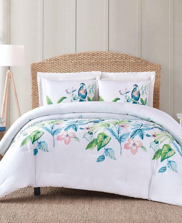 Oceanfront Resort Tropical Bungalow 3-Pc. Full/Queen Comforter Set
