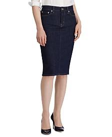 Lauren Ralph Lauren Petite Denim Skirt