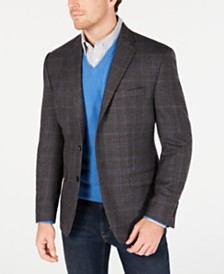 Lauren Ralph Lauren Men's Classic-Fit UltraFlex Stretch Windowpane Plaid Sport Coat