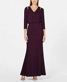Split-Shoulder Gown
