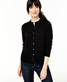 Cashmere Crystal-Button Cardigan, Regular & Petite Sizes, Created for Macy's