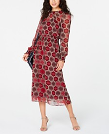 Tommy Hilfiger Long-Sleeve Honeycomb Dress, Created for Macy's