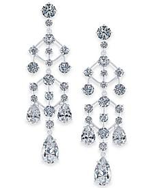 Danori Silver-Tone Crystal Chandelier Drop Earrings, Created for Macy's
