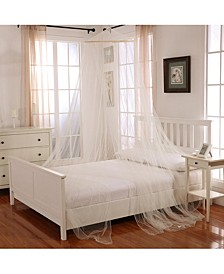 Cottonloft Oasis Round Hoop Sheer Mosquito Net Bed Canopy