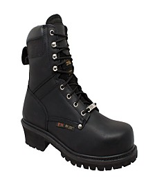"AdTec Men's 9"" Steel Toe Super Logger Boot"