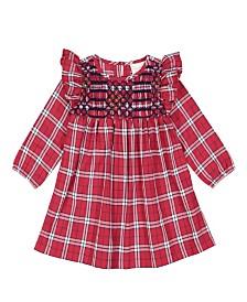 Masala Baby Kids Smocked Dress Tartan