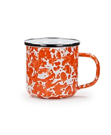 Golden Rabbit Orange Swirl Enamelware Collection Mug, 12oz