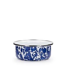 Golden Rabbit Cobalt Swirl Enamelware Collection Soup Bowl, 14oz