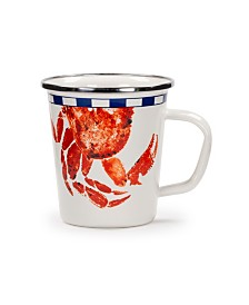 Golden Rabbit Crab House Enamelware Collection Latte Mug, 16oz