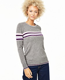 Striped Cashmere Sweater, Created for Macy's