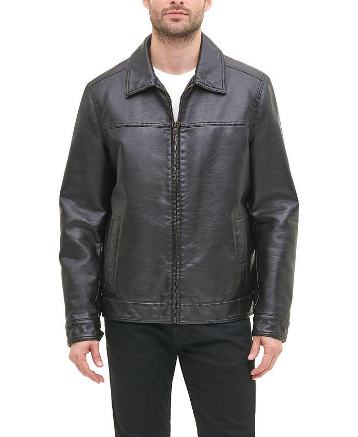 Tommy Hilfiger - Men's Faux Leather Bomber Jacket