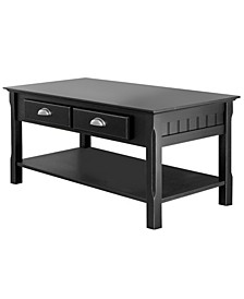 Timer Coffee Table, Drawers and Shelf