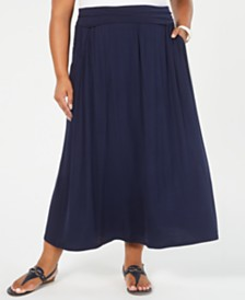 Style & Co Plus Size A-Line Maxi Skirt, Created for Macy's