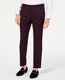 INC Men's Slim-Fit Tartan Pants, Created for Macy's