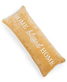 """Home Blessed Home 14"""" x 36"""" Chenille Decorative Pillow"""