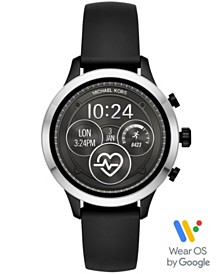 Michael Kors Access Unisex Runway Black Silicone Strap Touchscreen Smart Watch 41mm, Powered by Wear OS by Google™
