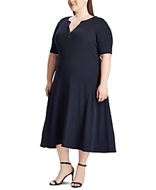 Plus Size A-line Cotton Dress