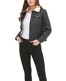 Levi's® Women's Sherpa Lined Faux Leather Trucker Jacket