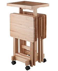 Winsome Wood 6-Piece Snack Table Set