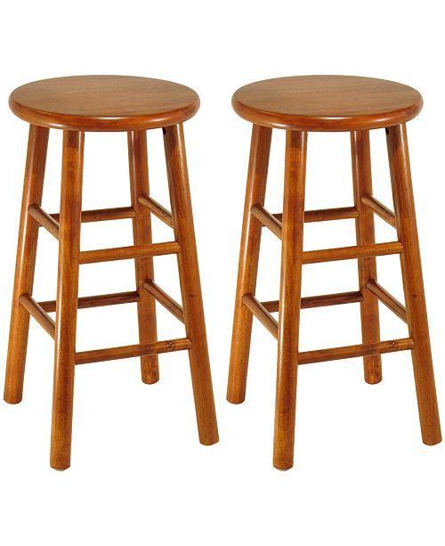 "Winsome Wood Tabby 2-Piece 24"" Bar Stool Set"