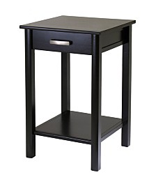 Winsome Wood Liso End Table/Printer Table with Drawer and Shelf