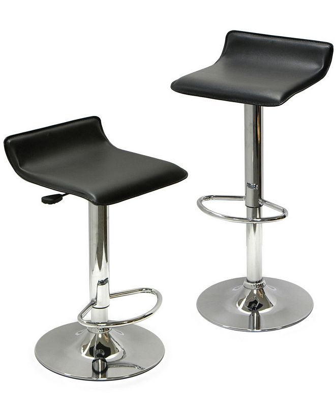 Winsome Spectrum Set of 2 Adjustable Air Lift Stool