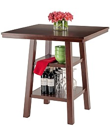 Winsome Wood Orlando High Table with 2 Shelves