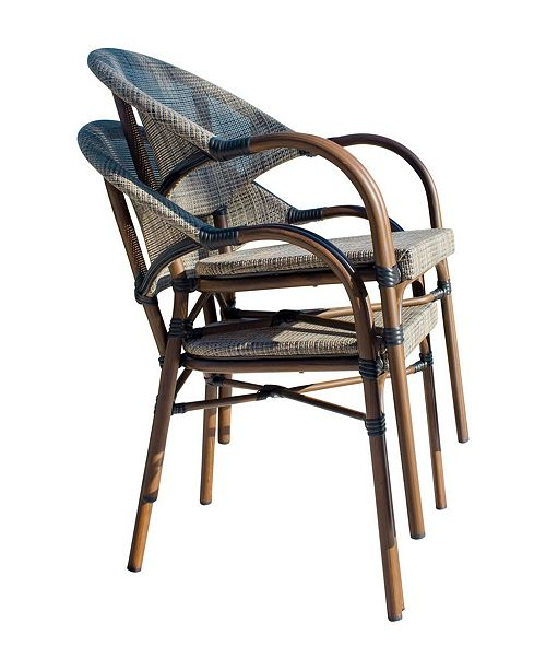 Panama Jack Home Brookwood Stackable Bamboo Look Chair