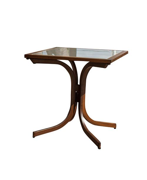 Panama Jack Home Brookwood Square End Table with Glass