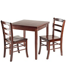 Wood Pulman 3-Piece Extension Table Set