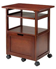 Winsome Wood Piper Work Cart/Printer Stand with Key Board