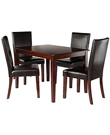 Wood Anna 5-Piece Dining Table Set with Chairs