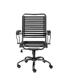 Euro Style Bungie Flat J-Arm High Back Office Chair