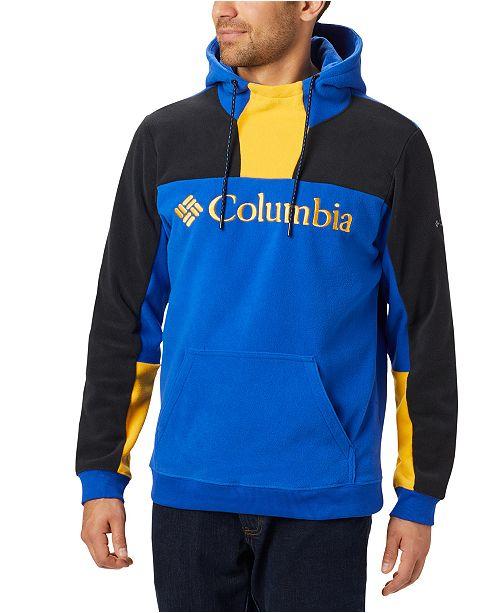 Columbia Men's Lodge™ Active-Fit Colorblocked Fleece Logo Hoodie